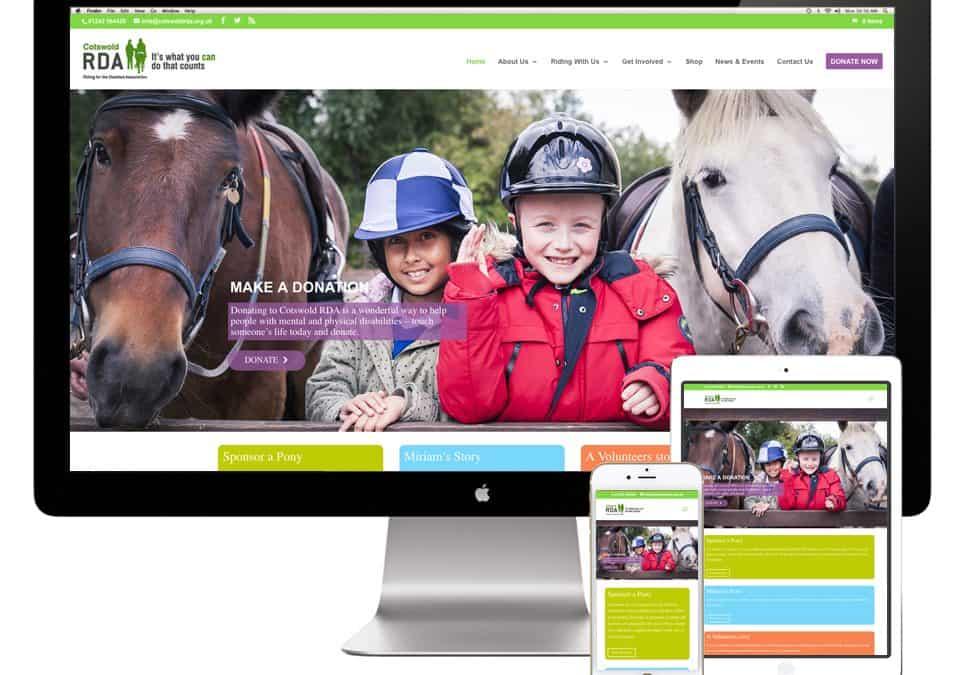 Cotswold RDA Website Design
