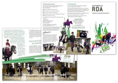 Cotswold RDA Leaflet Design