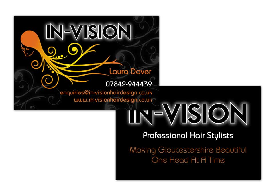 In vision business card design dfcreative in vision business card design reheart Choice Image