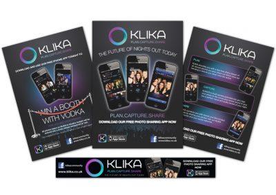 KLIKA Poster Designs