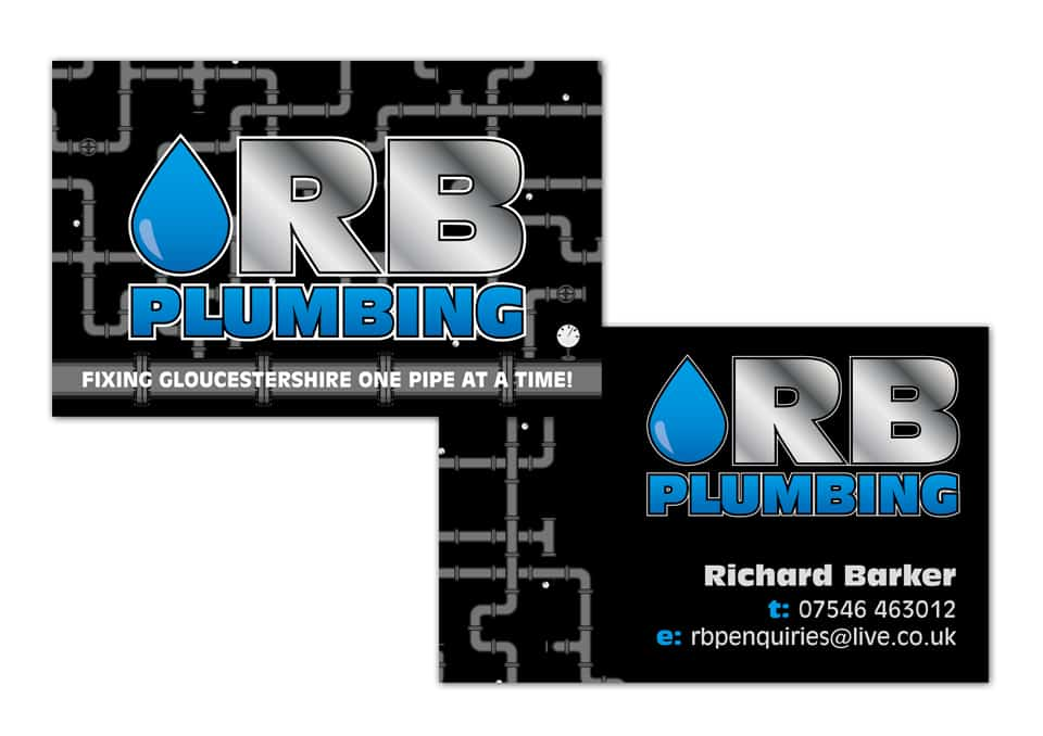 Rb plumbing business card design dfcreative rb plumbing business card design reheart Image collections