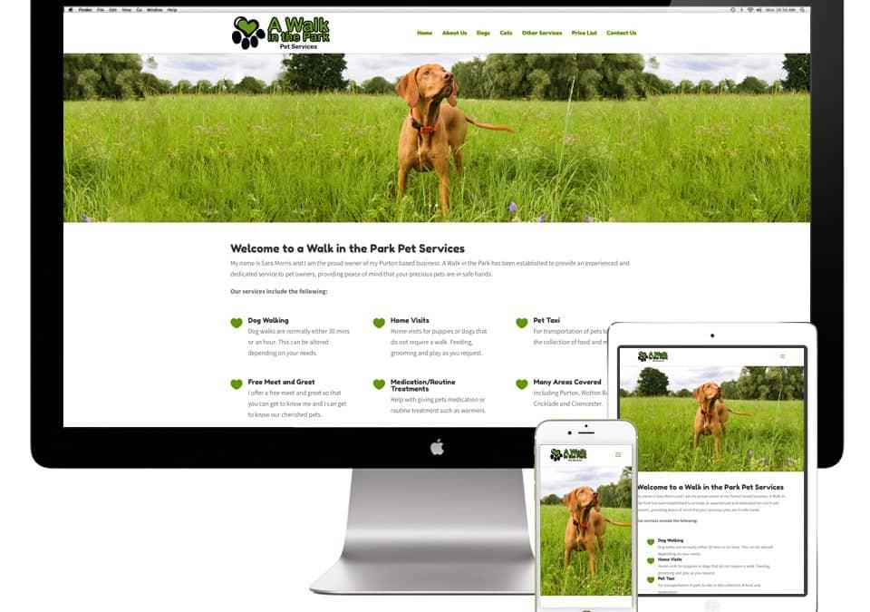 A Walk in the Park Website Design