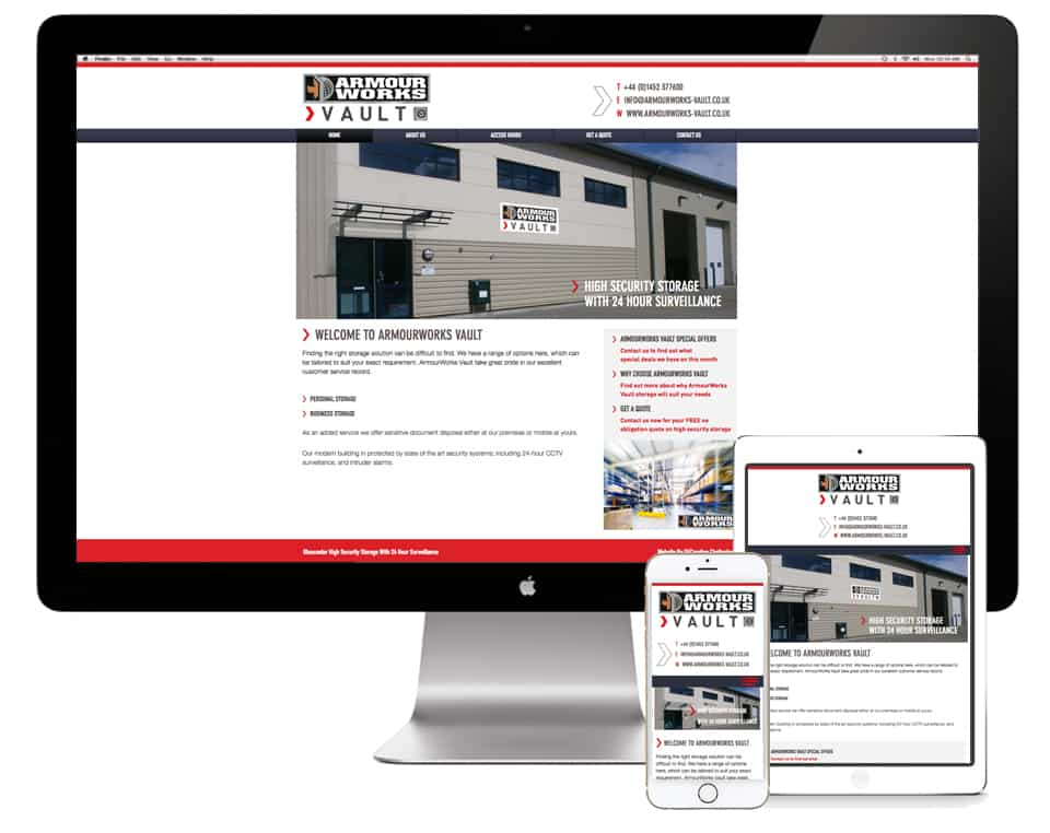 ArmourWorks Vault Website