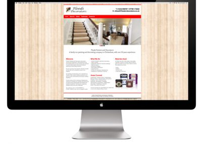 Floods Decorators Website Design