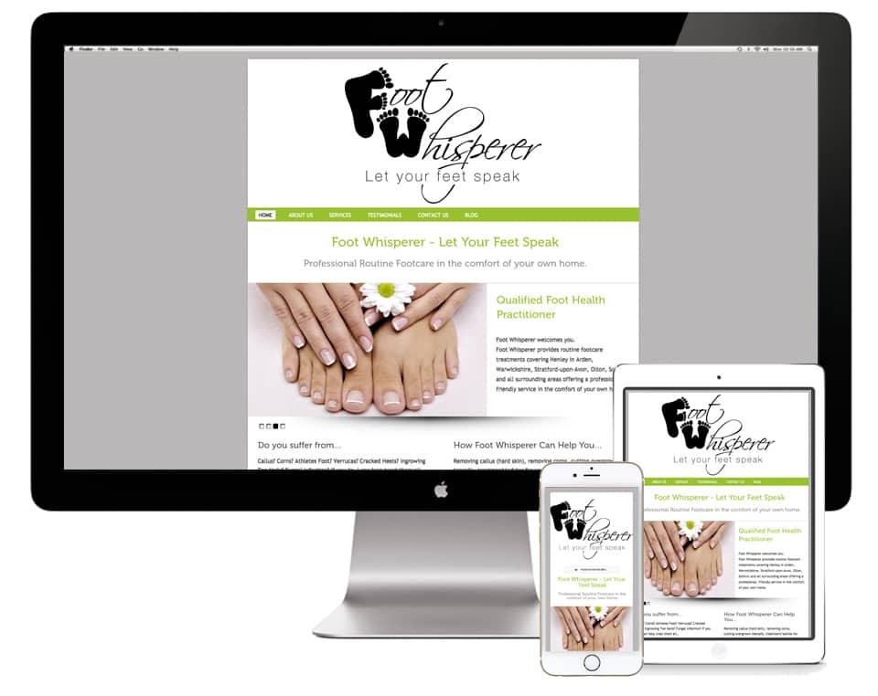 Foot Whisperer Website Design