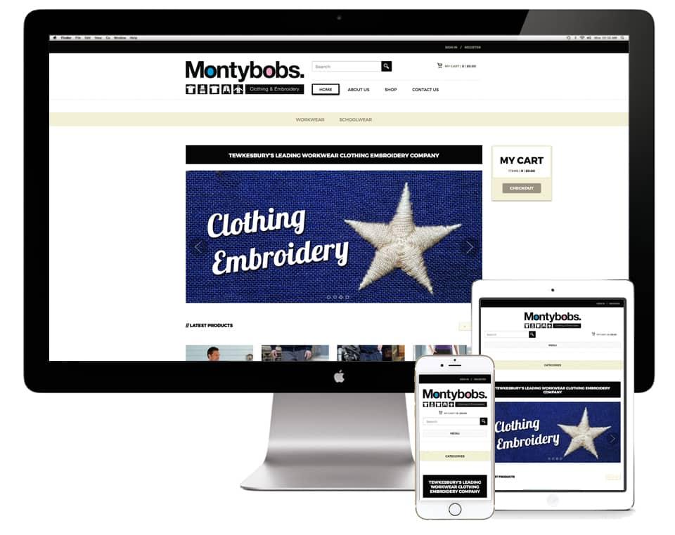 Montybobs Website Design