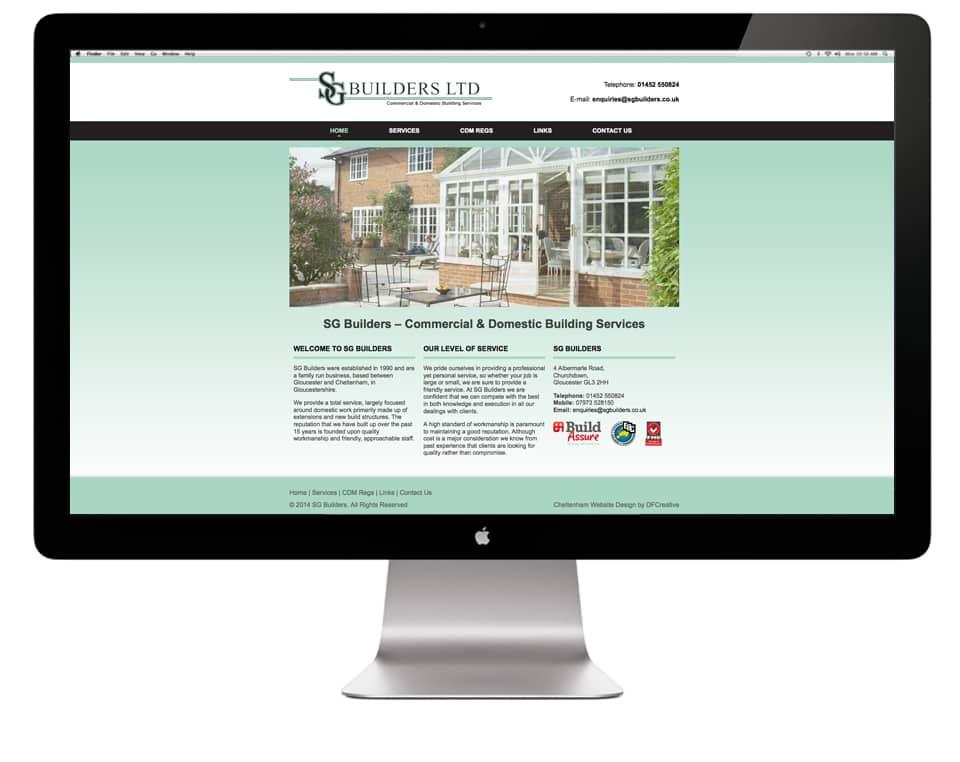 SG Builders Website Design