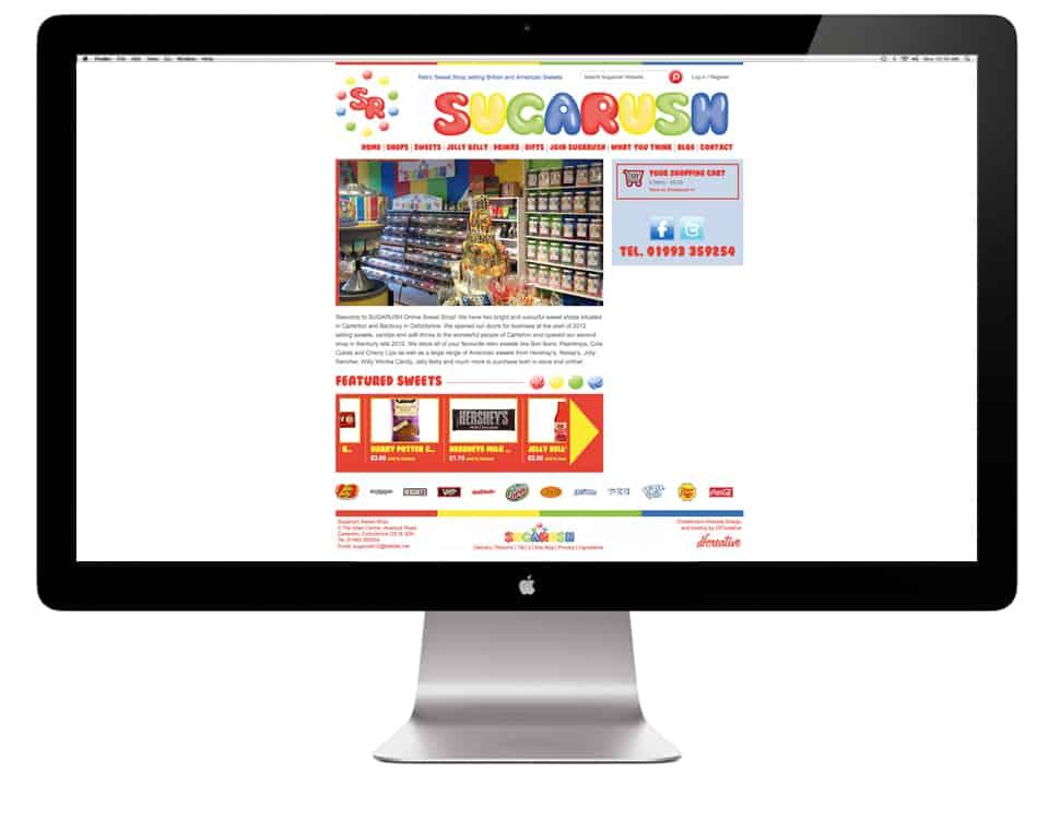 Sugarush Sweets Website Design