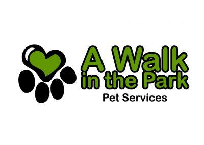 A Walk In The Park Pet Services Logo Design