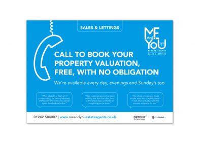 ME & You Estate Agents Flyer Design