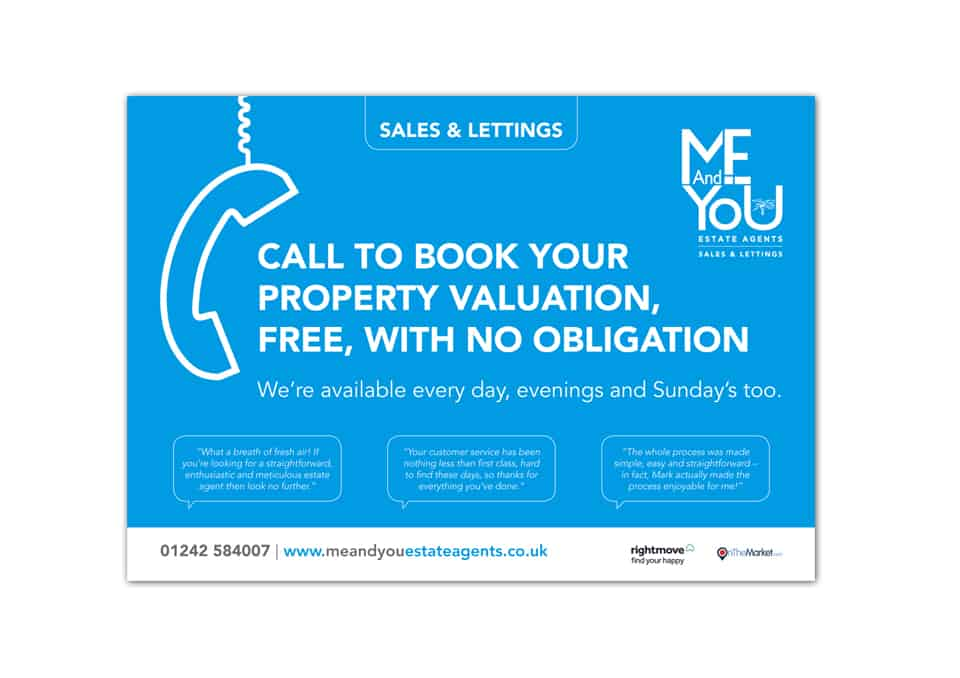 ME & You Estate Agents Flyer Design
