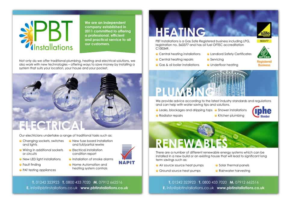 PBT Renewables Flyer Design