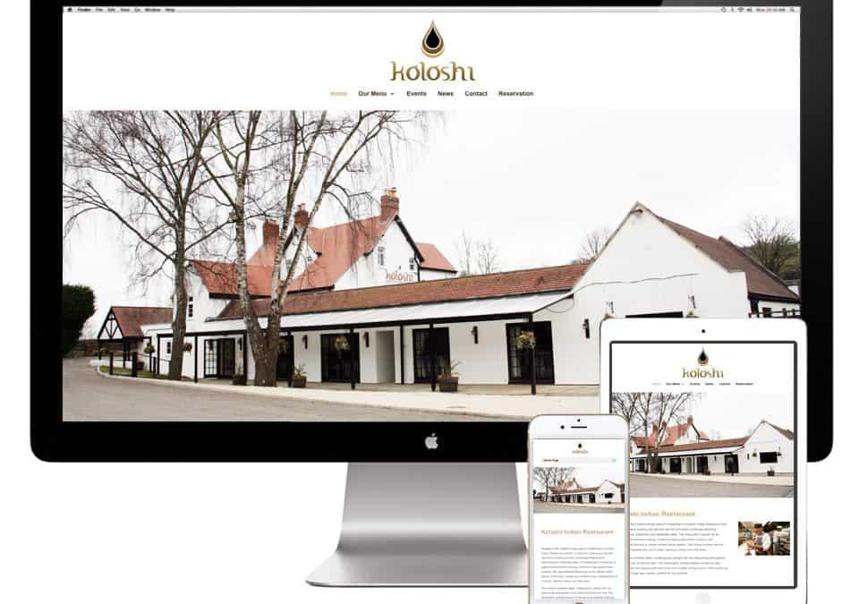 Koloshi Indian Restaurant Website Design