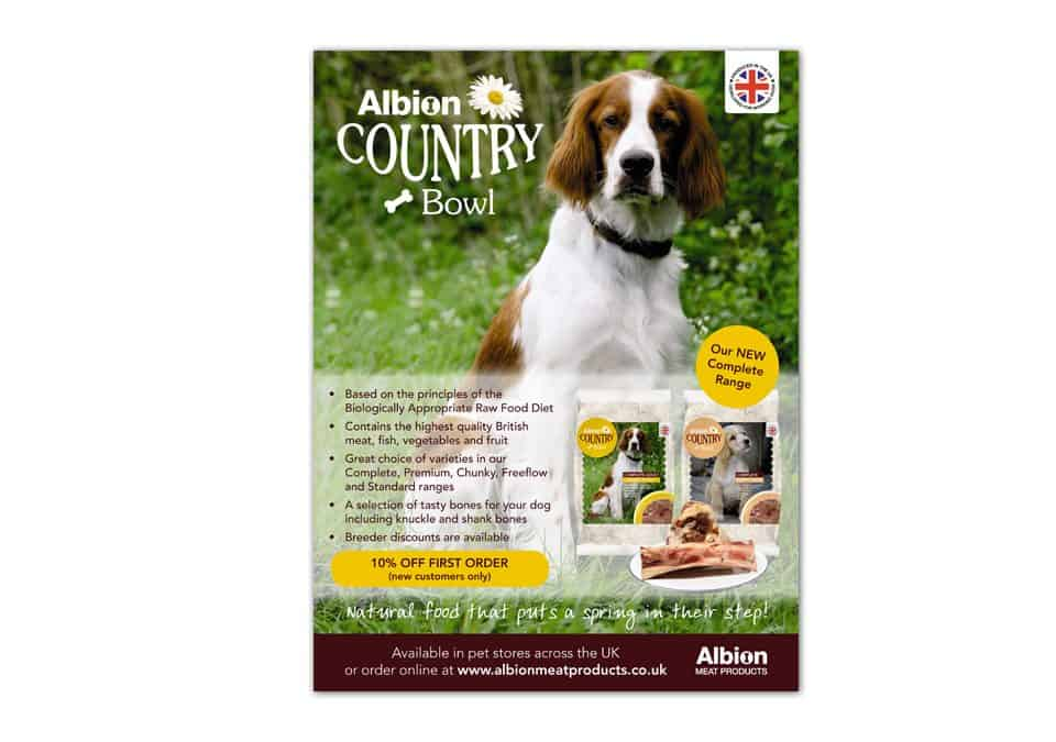 Albion Meat Products Advert Design