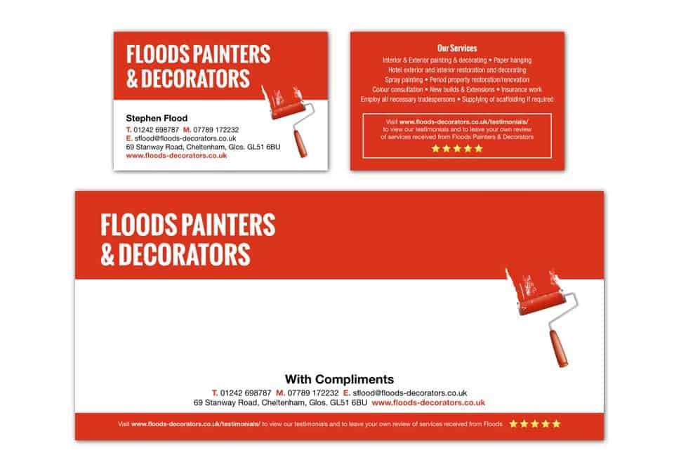 Business cards dfcreative floods painters decorators stationary design reheart Choice Image